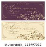 wedding invitation cards... | Shutterstock .eps vector #115997032