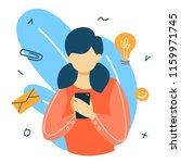 social media concept. global... | Shutterstock .eps vector #1159971745