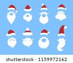 set of funny cute santa claus... | Shutterstock .eps vector #1159972162