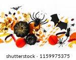 halloween holiday background... | Shutterstock . vector #1159975375