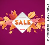 autumn sale background template ... | Shutterstock .eps vector #1159978525