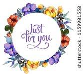 watercolor colorful bouquet ... | Shutterstock . vector #1159981558