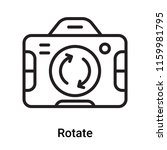 rotate icon vector isolated on... | Shutterstock .eps vector #1159981795