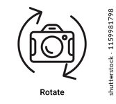 rotate icon vector isolated on... | Shutterstock .eps vector #1159981798