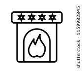 fireplace icon vector isolated... | Shutterstock .eps vector #1159982845