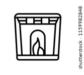 fireplace icon vector isolated... | Shutterstock .eps vector #1159982848