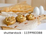 champignon mushrooms stuffed ... | Shutterstock . vector #1159983388