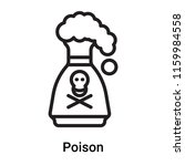 poison icon vector isolated on... | Shutterstock .eps vector #1159984558