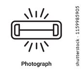 photograph icon vector isolated ... | Shutterstock .eps vector #1159985905