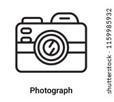 photograph icon vector isolated ... | Shutterstock .eps vector #1159985932