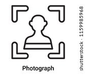 photograph icon vector isolated ... | Shutterstock .eps vector #1159985968