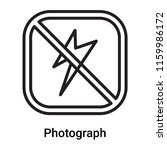 photograph icon vector isolated ... | Shutterstock .eps vector #1159986172