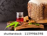 ayahuasca brew with shamanic... | Shutterstock . vector #1159986598