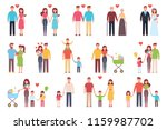 a happy family. set. design of... | Shutterstock . vector #1159987702