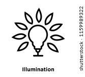 illumination icon vector... | Shutterstock .eps vector #1159989322