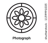 photograph icon vector isolated ... | Shutterstock .eps vector #1159991035