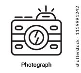 photograph icon vector isolated ... | Shutterstock .eps vector #1159991242