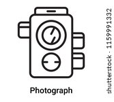 photograph icon vector isolated ... | Shutterstock .eps vector #1159991332
