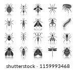 danger insect silhouette icons... | Shutterstock .eps vector #1159993468