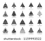christmas tree icon set. sign... | Shutterstock .eps vector #1159993522