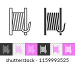 bobbin black linear and... | Shutterstock .eps vector #1159993525