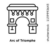 arc of triomphe icon vector... | Shutterstock .eps vector #1159993645