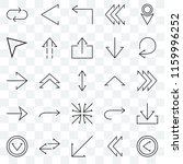 set of 25 transparent icons... | Shutterstock .eps vector #1159996252