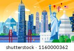 vector illustration of united... | Shutterstock .eps vector #1160000362