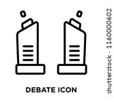 debate icon vector isolated on... | Shutterstock .eps vector #1160000602