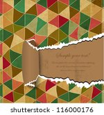torn paper with vintage pattern