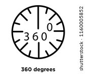 360 degrees icon vector... | Shutterstock .eps vector #1160005852