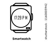 smartwatch icon vector isolated ... | Shutterstock .eps vector #1160005942