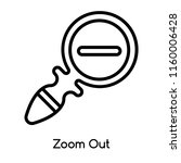 zoom out icon vector isolated...   Shutterstock .eps vector #1160006428