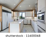 ultra modern white kitchen all... | Shutterstock . vector #11600068