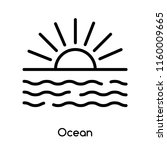 ocean icon vector isolated on... | Shutterstock .eps vector #1160009665