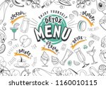 vector illustration of a menu... | Shutterstock .eps vector #1160010115
