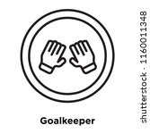 goalkeeper icon vector isolated ... | Shutterstock .eps vector #1160011348