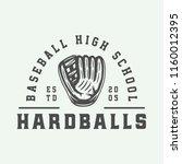 vintage baseball sport logo ... | Shutterstock .eps vector #1160012395
