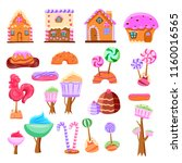 fairy tale candy land set of... | Shutterstock .eps vector #1160016565