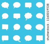 empty white speech bubbles | Shutterstock .eps vector #1160019538