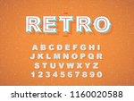 vector of stylized vintage font ... | Shutterstock .eps vector #1160020588