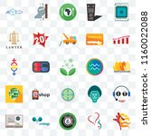 set of 25 transparent icons... | Shutterstock .eps vector #1160022088