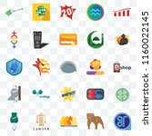 set of 25 transparent icons... | Shutterstock .eps vector #1160022145