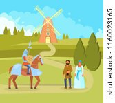 vector illustration of medieval ... | Shutterstock .eps vector #1160023165