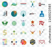 set of 25 transparent icons... | Shutterstock .eps vector #1160023585