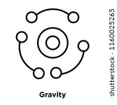gravity icon vector isolated on ... | Shutterstock .eps vector #1160025265