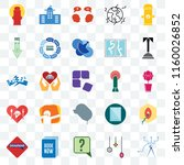 set of 25 transparent icons... | Shutterstock .eps vector #1160026852
