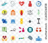 set of 25 transparent icons... | Shutterstock .eps vector #1160026858