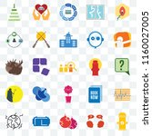 set of 25 transparent icons... | Shutterstock .eps vector #1160027005