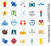 set of 25 transparent icons... | Shutterstock .eps vector #1160027038